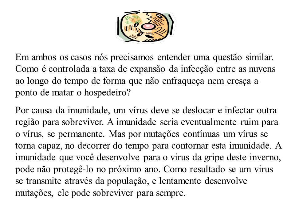 A chave da sobrevivência do vírus é então a possibilidade que tem o hospedeiro de desenvolver uma imunidade temporária.