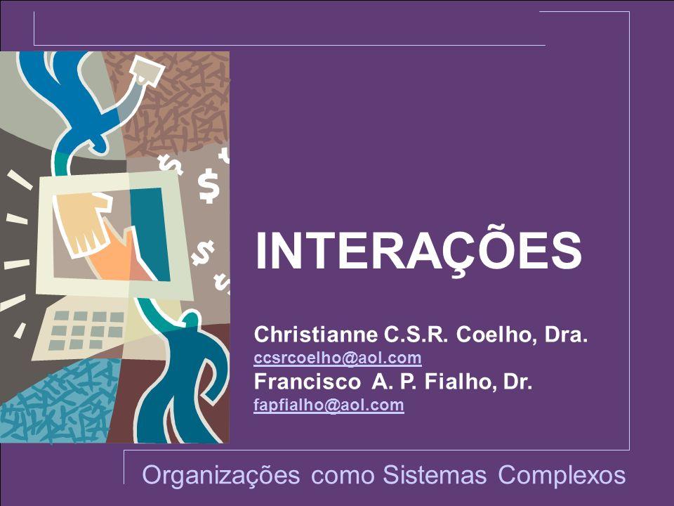 INTERAÇÕES Organizações como Sistemas Complexos Christianne C.S.R. Coelho, Dra. ccsrcoelho@aol.com Francisco A. P. Fialho, Dr. fapfialho@aol.com