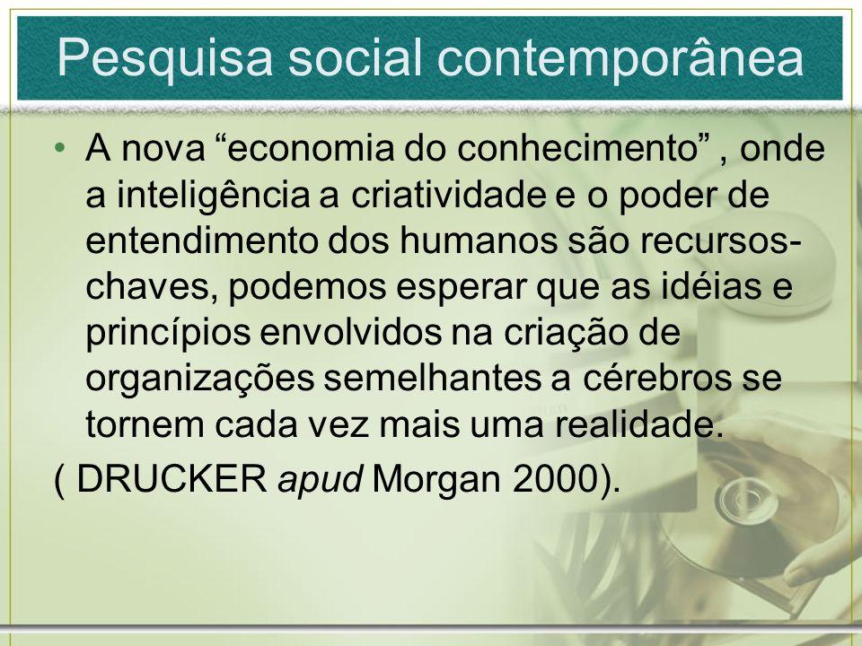Pesquisa social contemporânea A nova economia do conhecimento, onde a inteligência a criatividade e o poder de entendimento dos humanos são recursos-