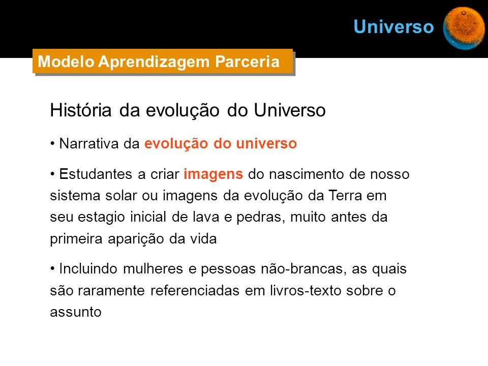 História da evolução do Universo Narrativa da evolução do universo Estudantes a criar imagens do nascimento de nosso sistema solar ou imagens da evolu