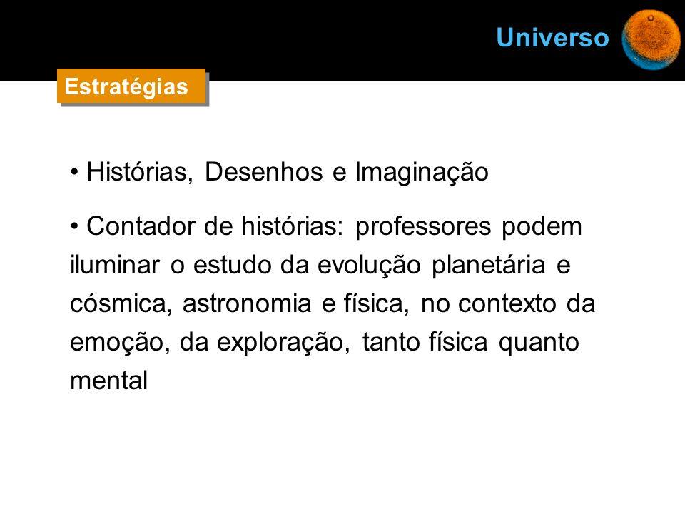 Histórias, Desenhos e Imaginação Contador de histórias: professores podem iluminar o estudo da evolução planetária e cósmica, astronomia e física, no