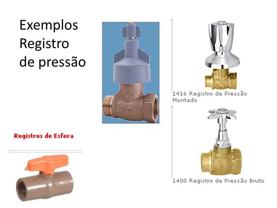 Exemplos Registro de pressão