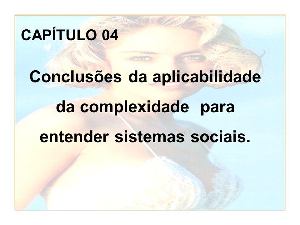 CAPÍTULO 04 Conclusões da aplicabilidade da complexidade para entender sistemas sociais.