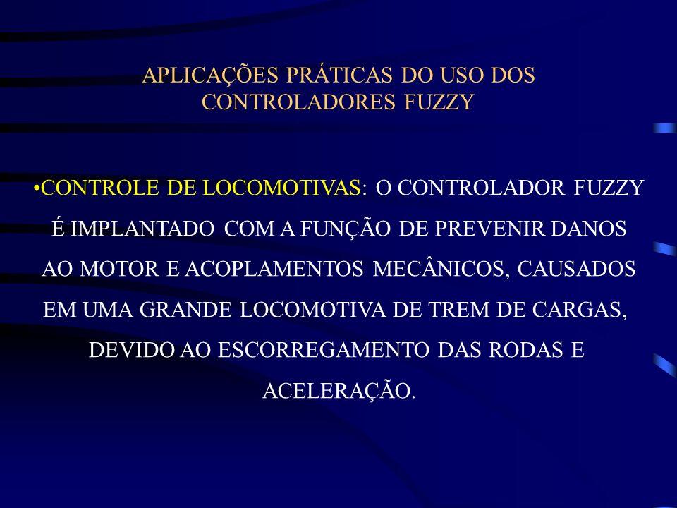 APLICAÇÕES PRÁTICAS DO USO DOS CONTROLADORES FUZZY CONTROLE DE LOCOMOTIVAS: O CONTROLADOR FUZZY É IMPLANTADO COM A FUNÇÃO DE PREVENIR DANOS AO MOTOR E