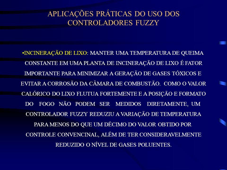 APLICAÇÕES PRÁTICAS DO USO DOS CONTROLADORES FUZZY INCINERAÇÃO DE LIXO: MANTER UMA TEMPERATURA DE QUEIMA CONSTANTE EM UMA PLANTA DE INCINERAÇÃO DE LIX