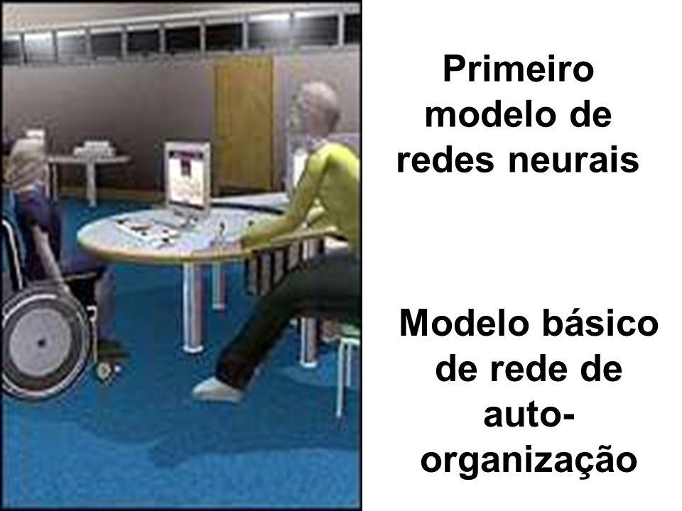 Primeiro modelo de redes neurais Modelo básico de rede de auto- organização