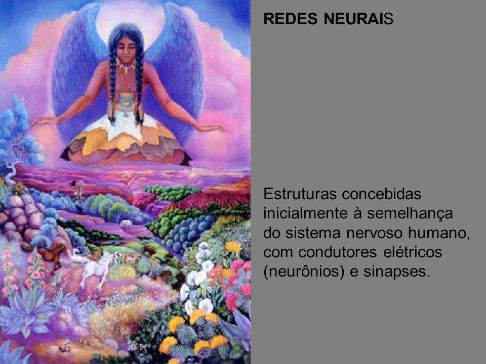 REDES NEURAIS Estruturas concebidas inicialmente à semelhança do sistema nervoso humano, com condutores elétricos (neurônios) e sinapses.