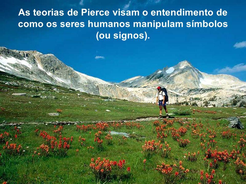Para Pierce, os signos não existem isolados na mente, mas sim na forma de uma tríade, devendo ser considerados os objetos (associados a um contexto de mundo), os próprios símbolos (associados a uma forma de representação dos mesmos) e a interpretação mental dos símbolos (significado).