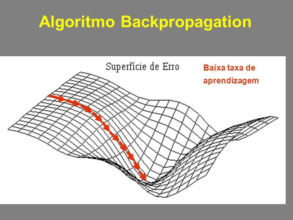 Algoritmo Backpropagation Baixa taxa de aprendizagem