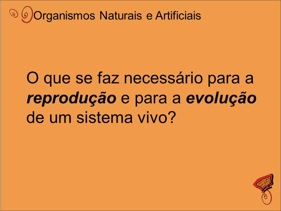 O que se faz necessário para a reprodução e para a evolução de um sistema vivo.