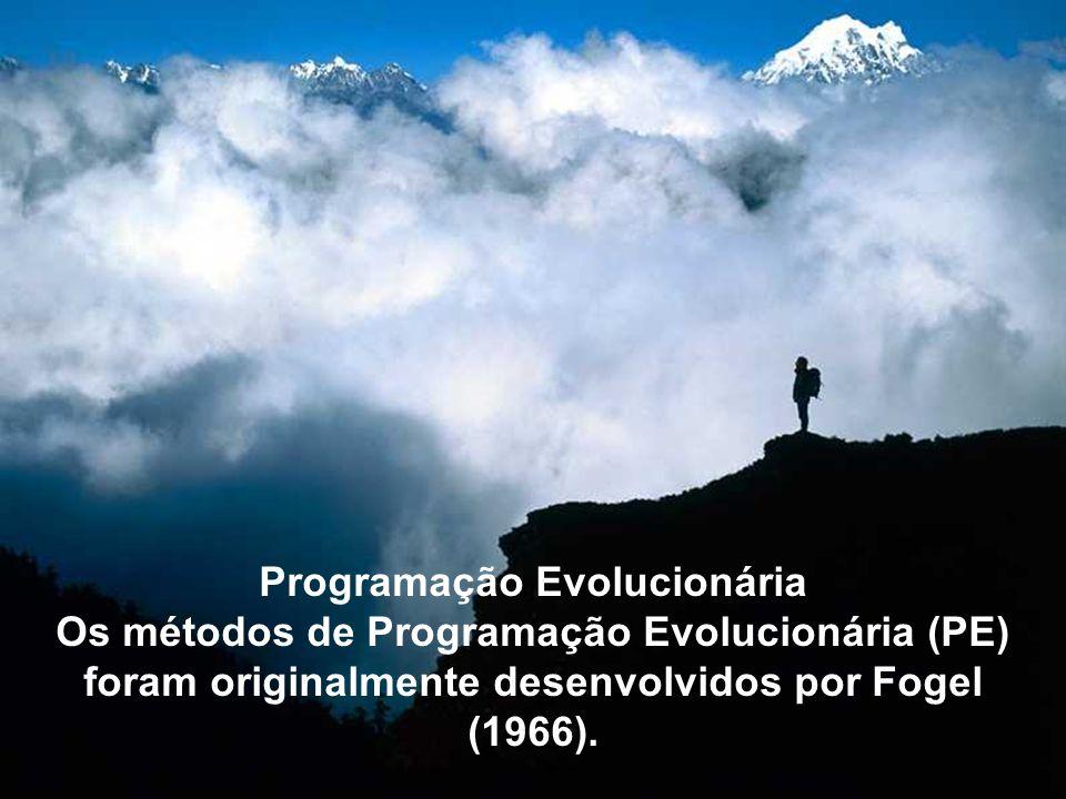 Programação Evolucionária Os métodos de Programação Evolucionária (PE) foram originalmente desenvolvidos por Fogel (1966).