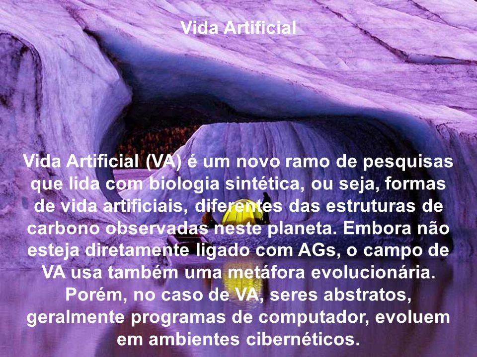 Vida Artificial Vida Artificial (VA) é um novo ramo de pesquisas que lida com biologia sintética, ou seja, formas de vida artificiais, diferentes das estruturas de carbono observadas neste planeta.