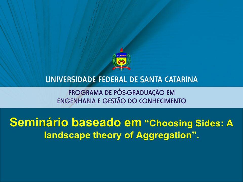 Seminário baseado em Choosing Sides: A landscape theory of Aggregation.