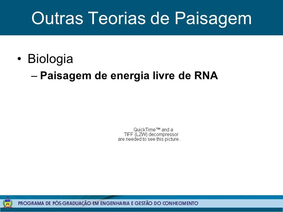 Outras Teorias de Paisagem Biologia –Paisagem de energia livre de RNA