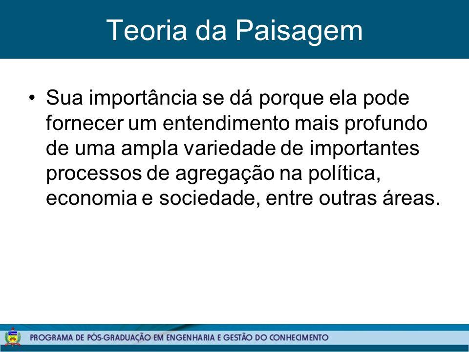 Teoria da Paisagem Sua importância se dá porque ela pode fornecer um entendimento mais profundo de uma ampla variedade de importantes processos de agregação na política, economia e sociedade, entre outras áreas.
