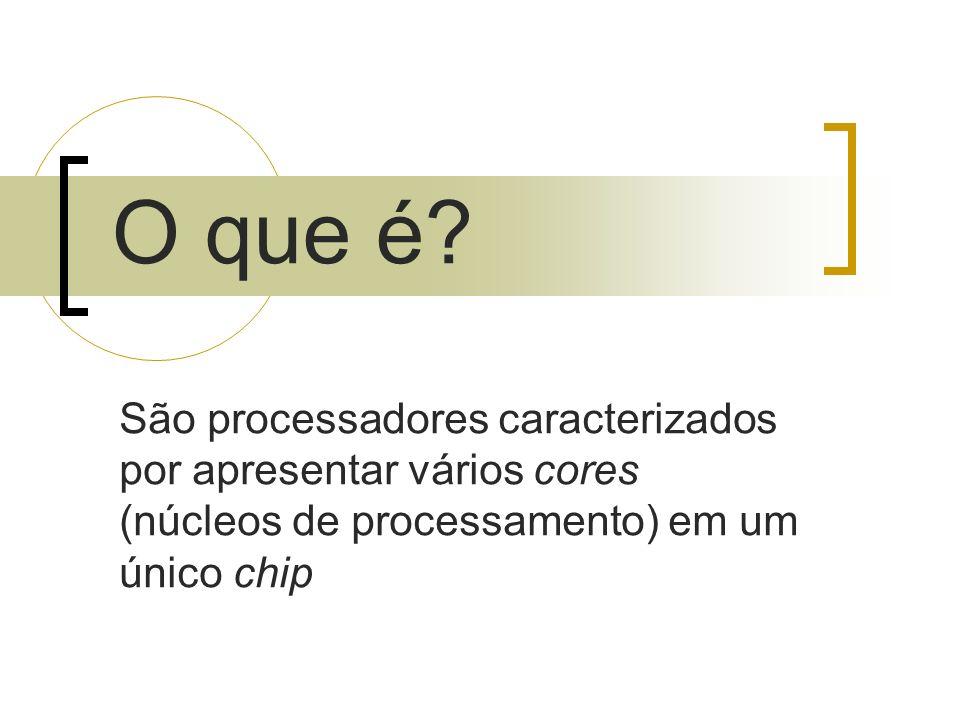 São processadores caracterizados por apresentar vários cores (núcleos de processamento) em um único chip O que é?
