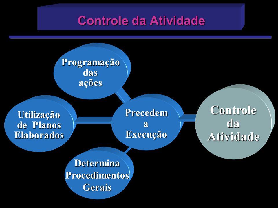 DeterminaProcedimentosGerais Utilização de Planos Elaborados Programaçãodasações PrecedemaExecução ControledaAtividade