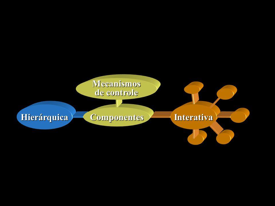 Hierárquica Interativa Componentes Mecanismos de controle