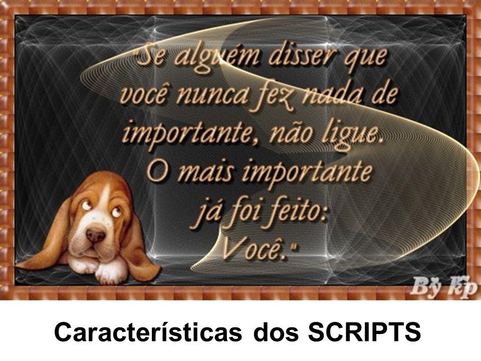 Características dos SCRIPTS