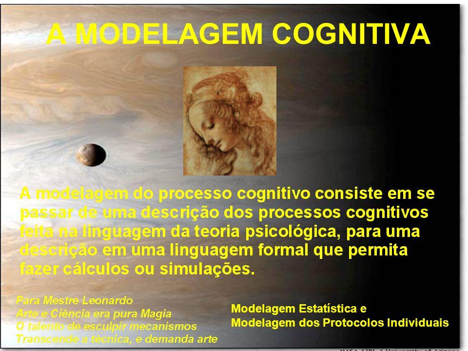 A MODELAGEM COGNITIVA Modelagem Estatística e Modelagem dos Protocolos Individuais