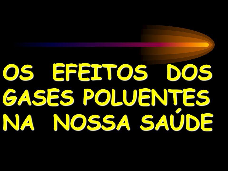 OS EFEITOS DOS GASES POLUENTES NA NOSSA SAÚDE