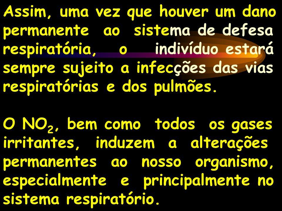 Assim, uma vez que houver um dano permanente ao sistema de defesa respiratória, o indivíduo estará sempre sujeito a infecções das vias respiratórias e