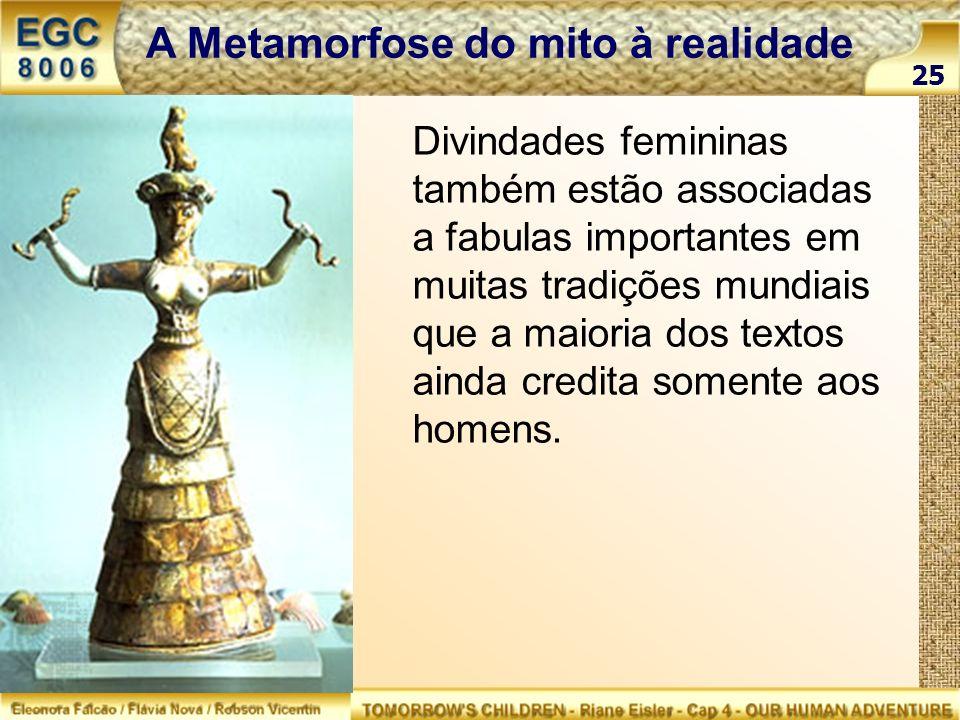 Divindades femininas também estão associadas a fabulas importantes em muitas tradições mundiais que a maioria dos textos ainda credita somente aos hom
