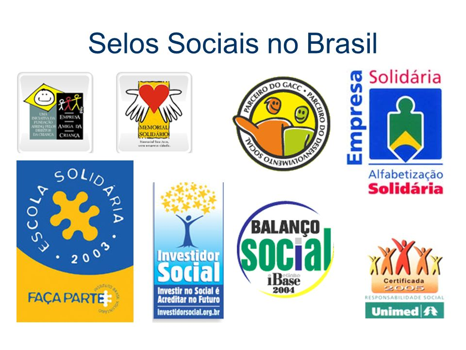 Selos Sociais no Brasil