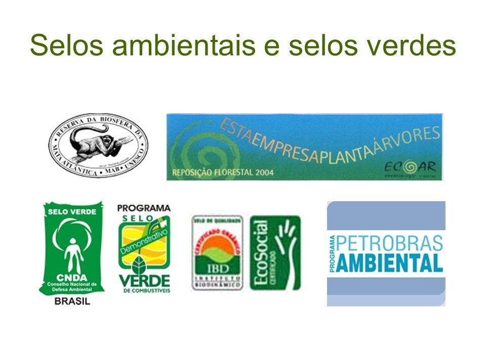 Selos ambientais e selos verdes
