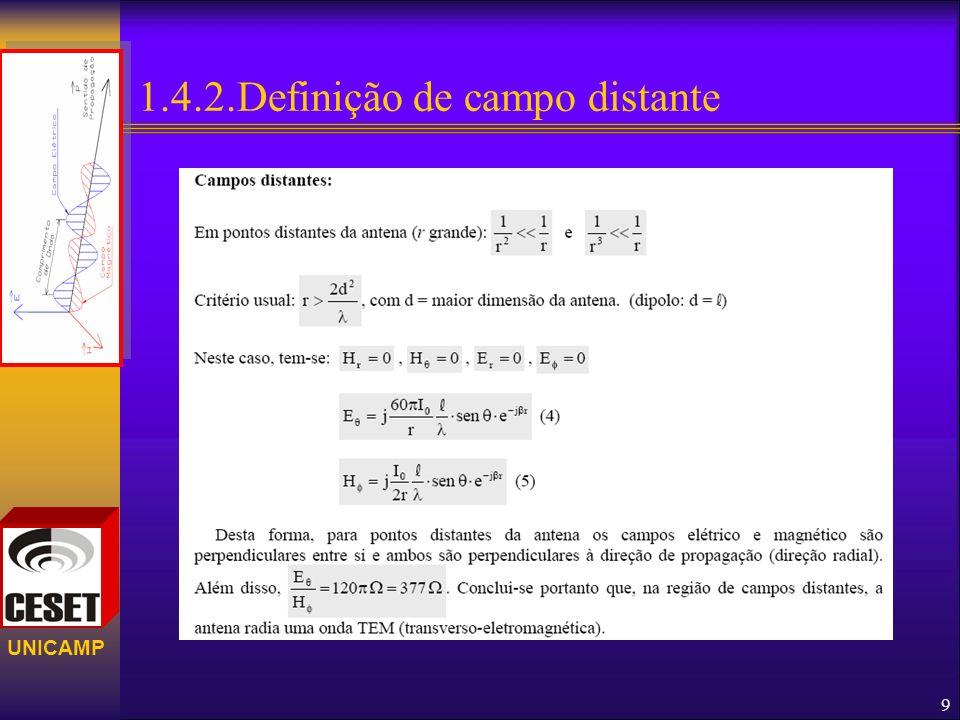 UNICAMP 1.4.3. Decomposição do campo. 10