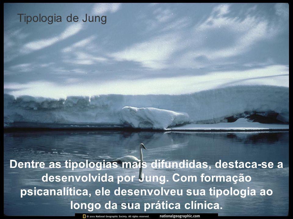Tipologia de Jung Dentre as tipologias mais difundidas, destaca-se a desenvolvida por Jung. Com formação psicanalítica, ele desenvolveu sua tipologia
