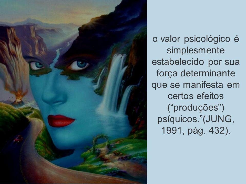 Tipologia de Jung o valor psicológico é simplesmente estabelecido por sua força determinante que se manifesta em certos efeitos (produções) psíquicos.