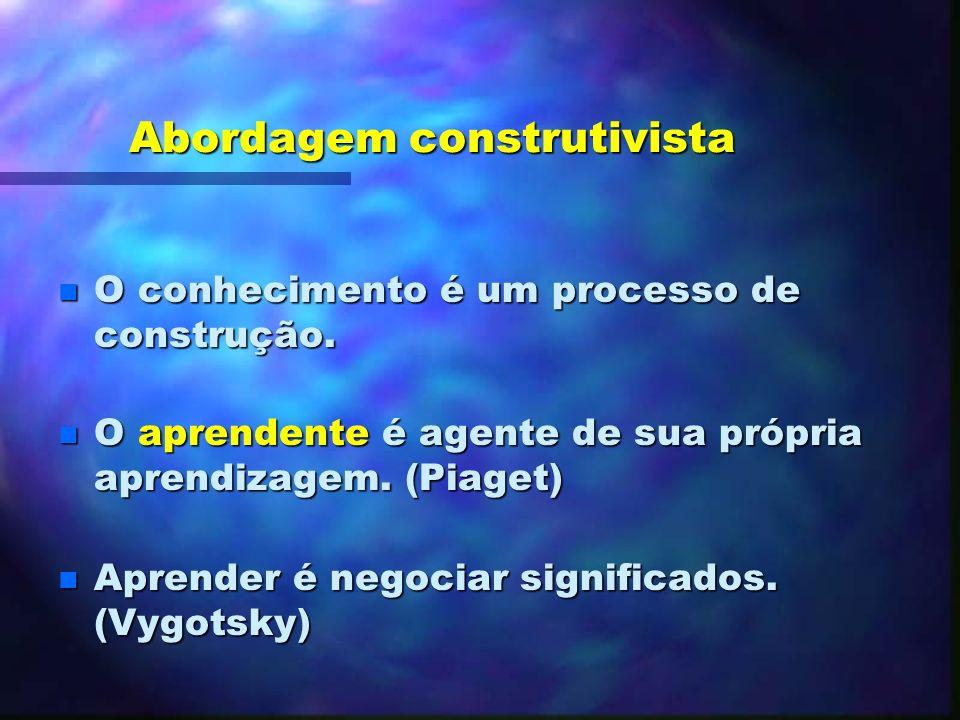 As abordagens do processo de aprendizagem-ensino (Deschênes, 1998) As diferentes abordagens do processo de aprendizagem-ensino (Deschênes, 1998)
