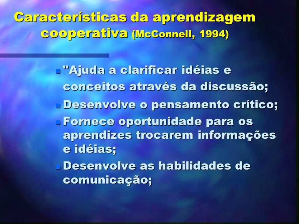 As bases da aprendizagem cooperativa (cooperative learning) n Trabalho cooperativo n Aprendizagem colaborativa (colaborative learning) * Aprendizagem