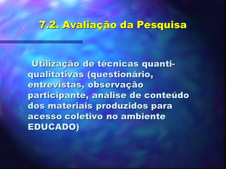 3- Encontros virtuais: n n Comunicação via e-mail e lista de discussão no ambiente EDUCADO; n n Uso das estações de trabalho na UNIVALI e NTE. n n Org