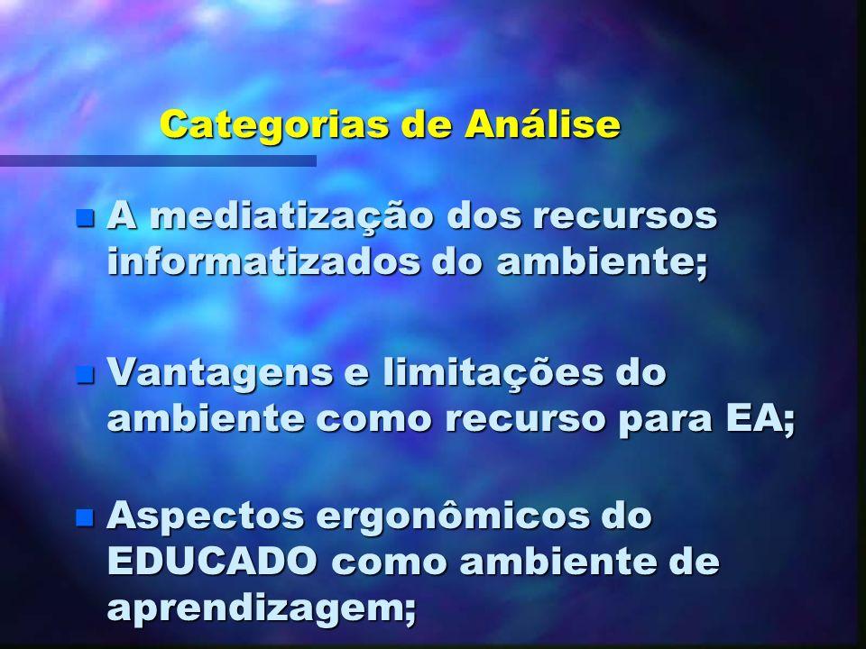 7.2.2. Categorias de Análise n A presença de situações reais de aprendizagem cooperativa; n O envolvimento dos aprendentes nos processos de cooperação