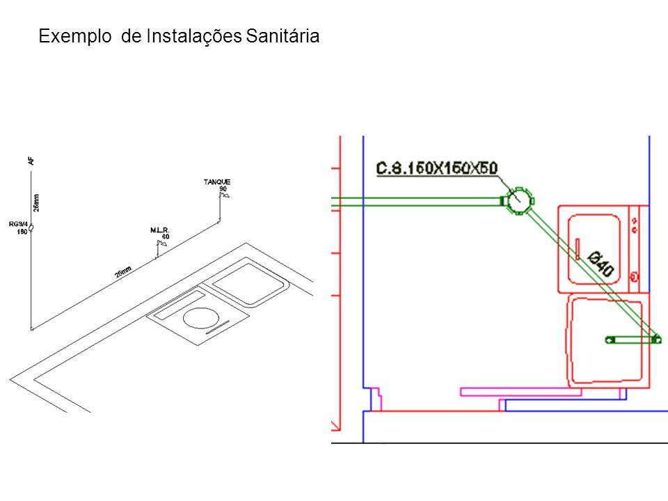 Exemplo de Instalações Sanitária