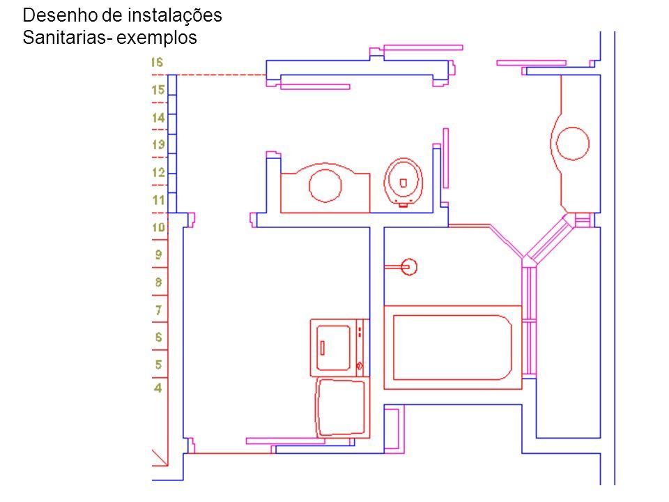 Desenho de instalações Sanitarias- exemplos