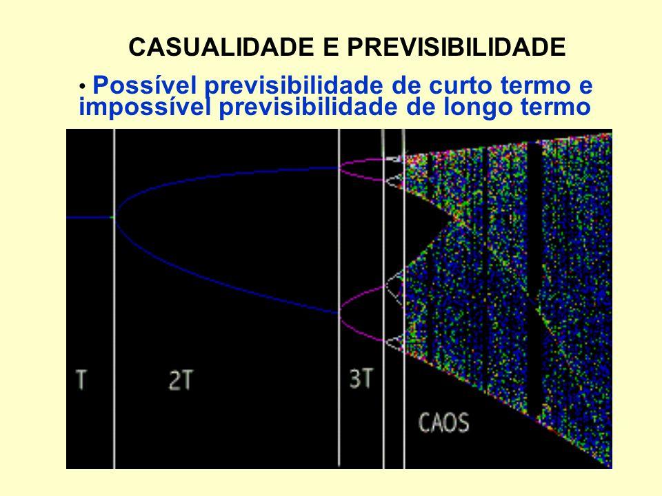 CASUALIDADE E PREVISIBILIDADE Possível previsibilidade de curto termo e impossível previsibilidade de longo termo