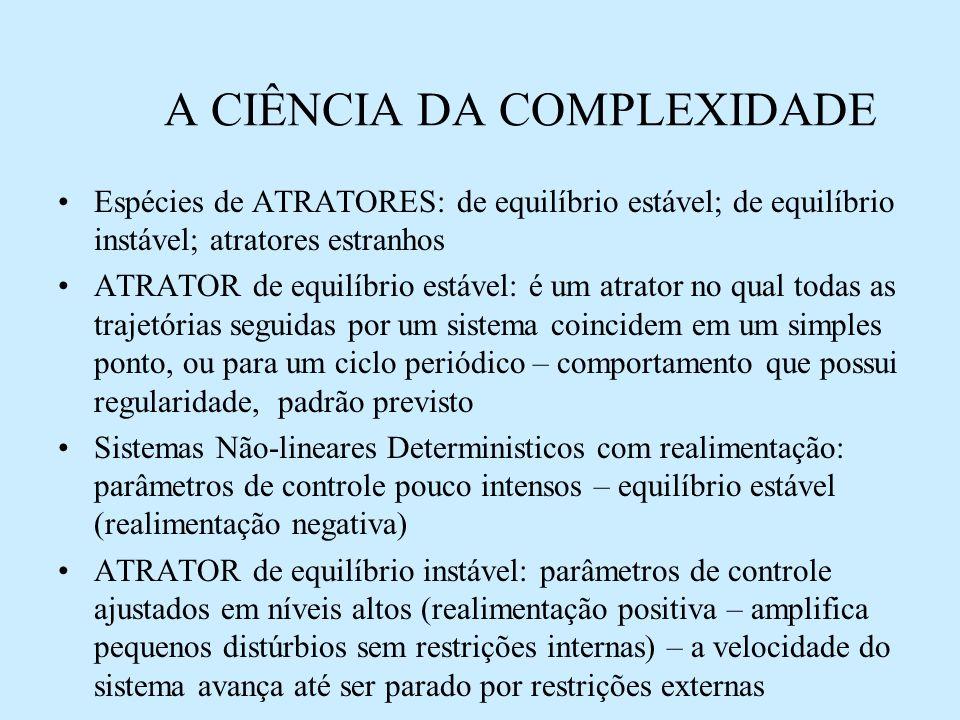 ESTRUTURAS DISSIPATIVAS E AUTO-ORGANIZAÇÃO ESPONTÂNEA 4.