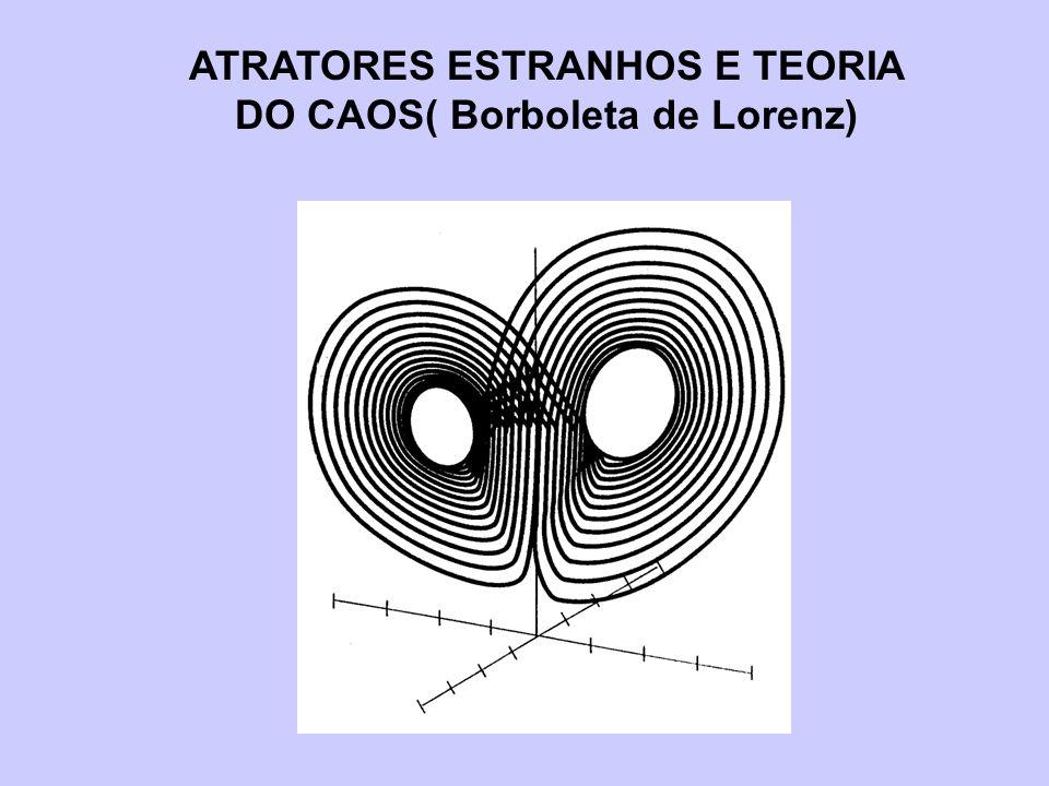 ATRATORES ESTRANHOS E TEORIA DO CAOS( Borboleta de Lorenz)