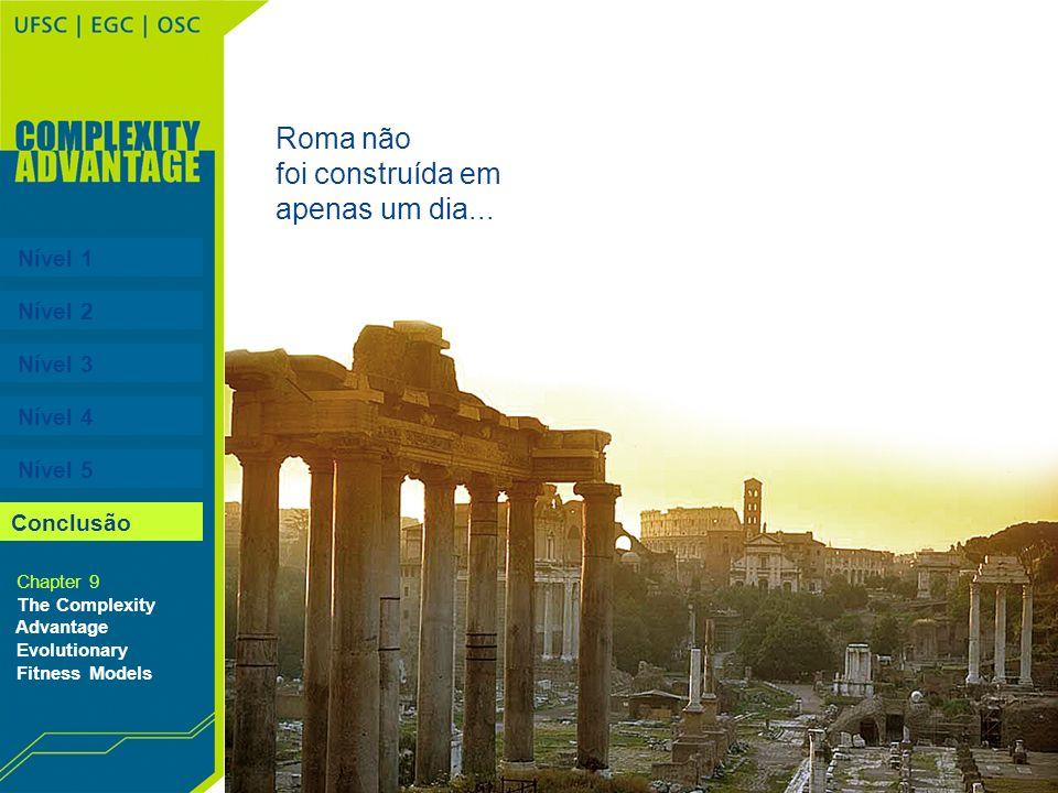 Nível 1 Nível 2 Nível 3 Nível 4 Nível 5 Chapter 9 The Complexity Advantage Evolutionary Fitness Models Conclusão Roma não foi construída em apenas um