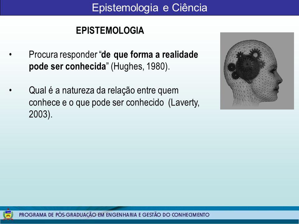 Epistemologia e Ciência METODOLOGIA Procura responder como o investigador pode proceder para encontrar o que ele acredita que pode conhecer (Laverty, 2003).
