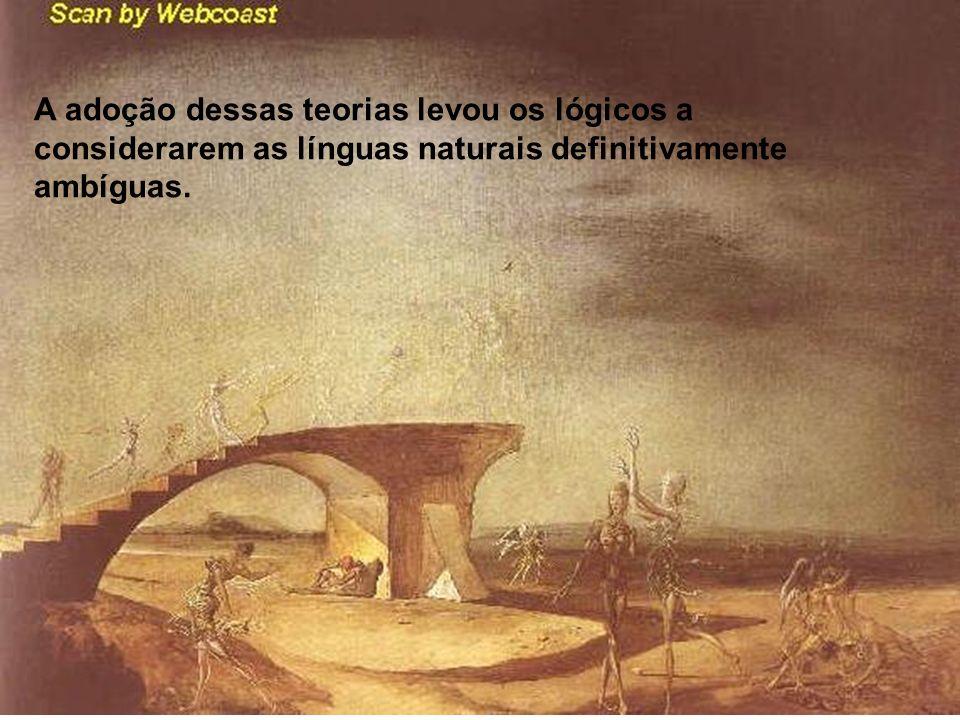 A adoção dessas teorias levou os lógicos a considerarem as línguas naturais definitivamente ambíguas.