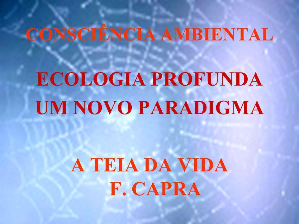 CONSCIÊNCIA AMBIENTAL ECOLOGIA PROFUNDA UM NOVO PARADIGMA A TEIA DA VIDA F. CAPRA