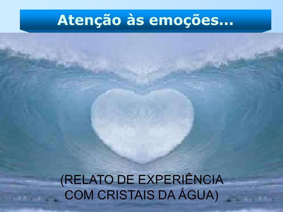 Atenção às emoções... (RELATO DE EXPERIÊNCIA COM CRISTAIS DA ÁGUA)