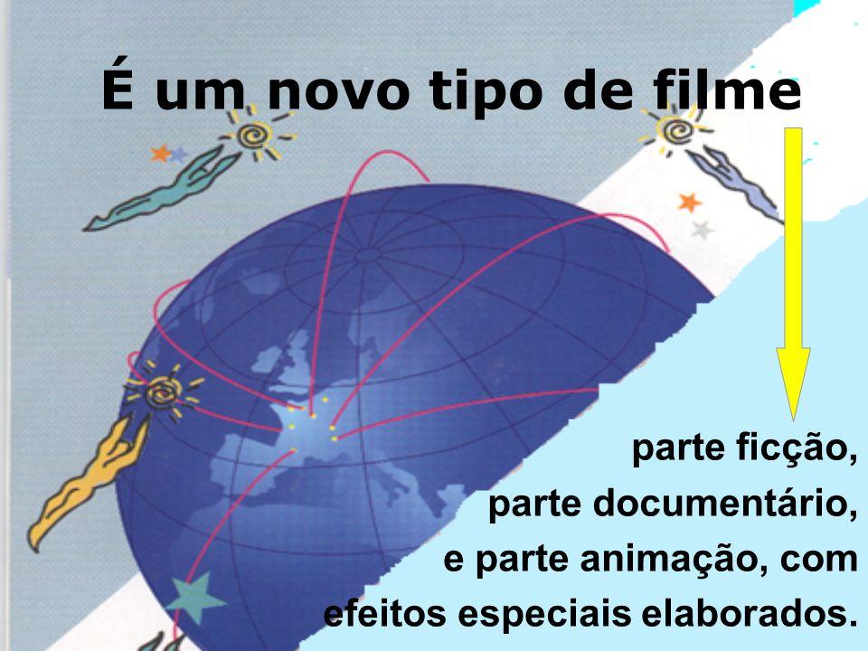parte ficção, parte documentário, e parte animação, com efeitos especiais elaborados.