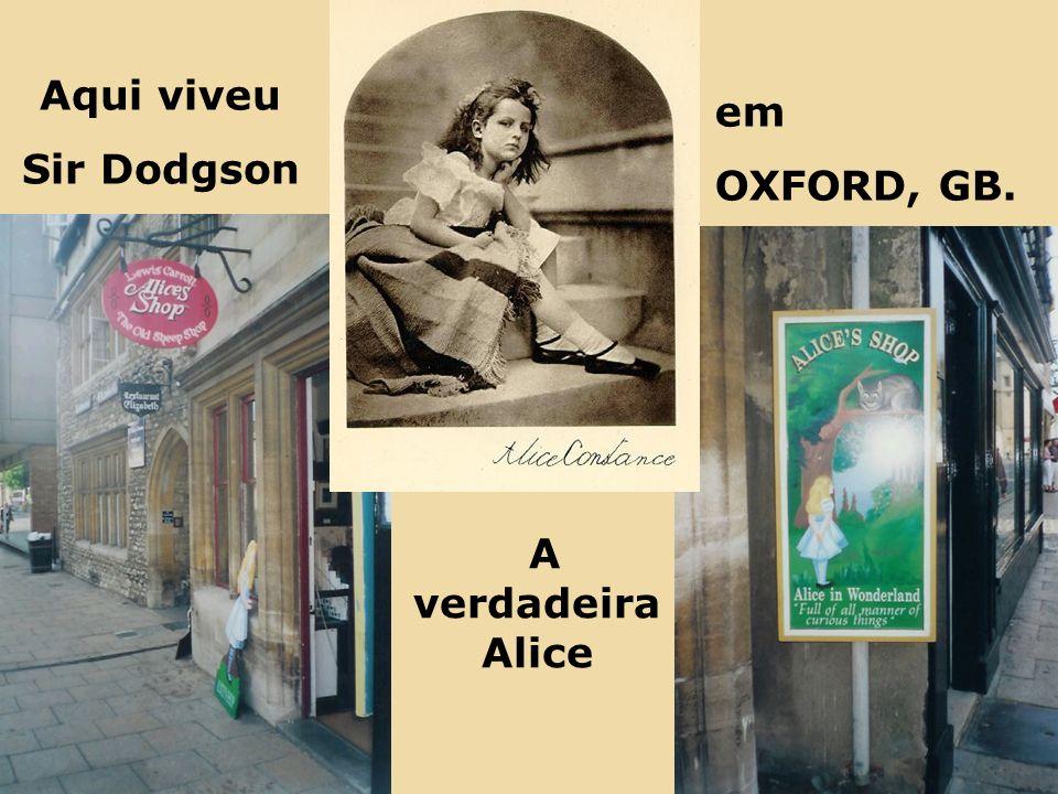 A verdadeira Alice Aqui viveu Sir Dodgson em OXFORD, GB.
