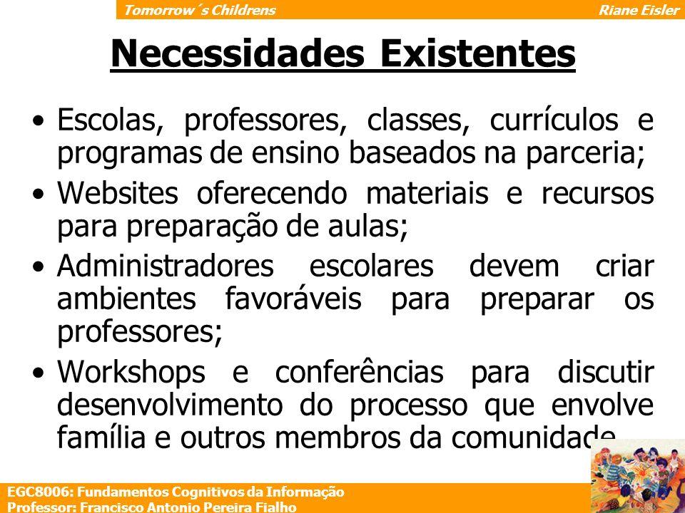 Escolas, professores, classes, currículos e programas de ensino baseados na parceria; Websites oferecendo materiais e recursos para preparação de aula