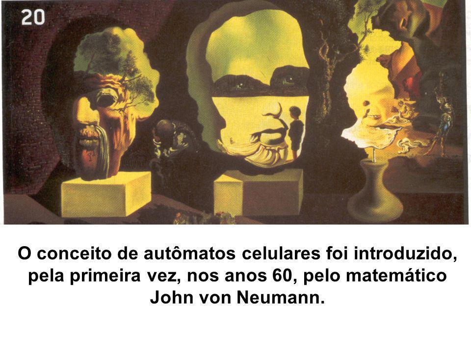 O conceito de autômatos celulares foi introduzido, pela primeira vez, nos anos 60, pelo matemático John von Neumann.